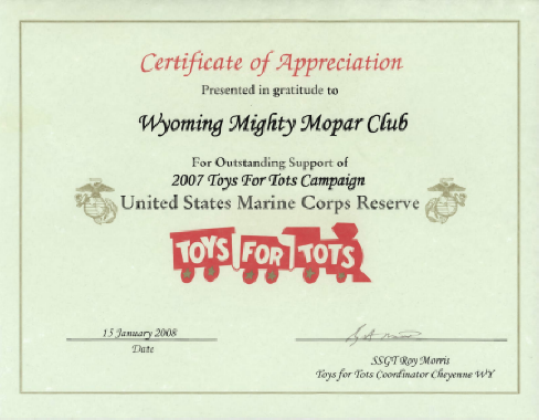 Toys for Tots 2007